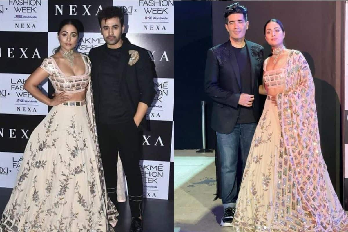 Hina Khan Grabs Eyeballs as She Steps at Manish Malhotra's Lakme Fashion Week 2021, Looks Hot in Lehenga