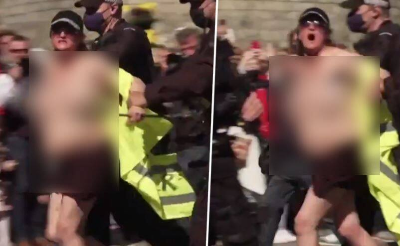 Topless Woman Who Shouted Save The Planet During Prince Philips Royal Funeral Arrested