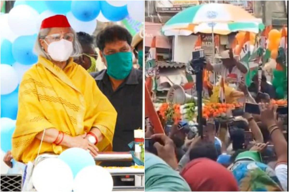 Jaya Bachchan Gets Brutally Trolled After Pushing a Man in Roadshow, Twitterati Call Her Rude And Arrogant
