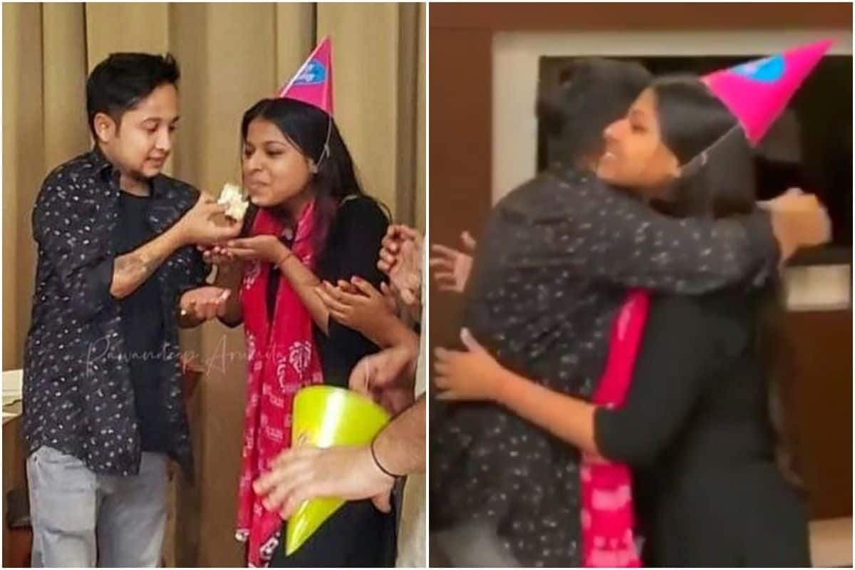 Indian Idol 12: Pawandeep Rajan Feeds Cake to Arunita Kanjilal, Hugs Her on His Birthday