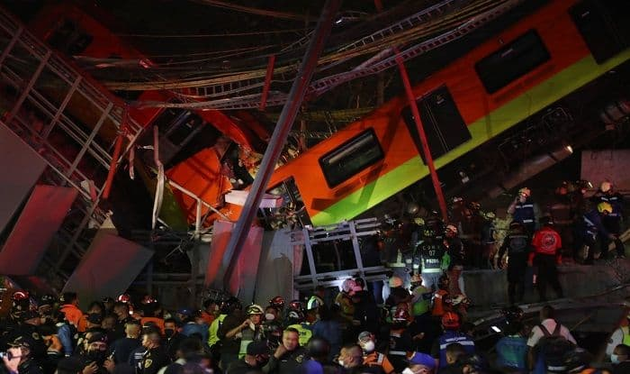 15 Dead, 70 Injured After Mexico City Metro Overpass Collapses Onto Road