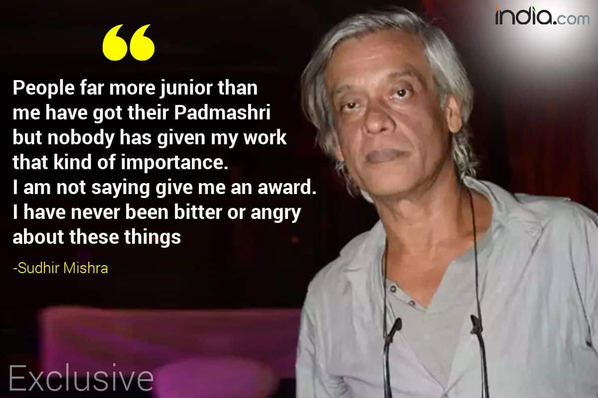 Sudhir Mishra Explosive Interview | Sudhir Mishra controversial Statement