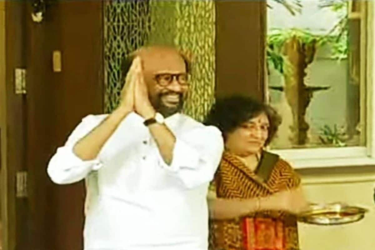 Rajinikanth Returns Home After Completing Annaatthe Shooting, Wife Latha Welcomes Him With Traditional Aarti