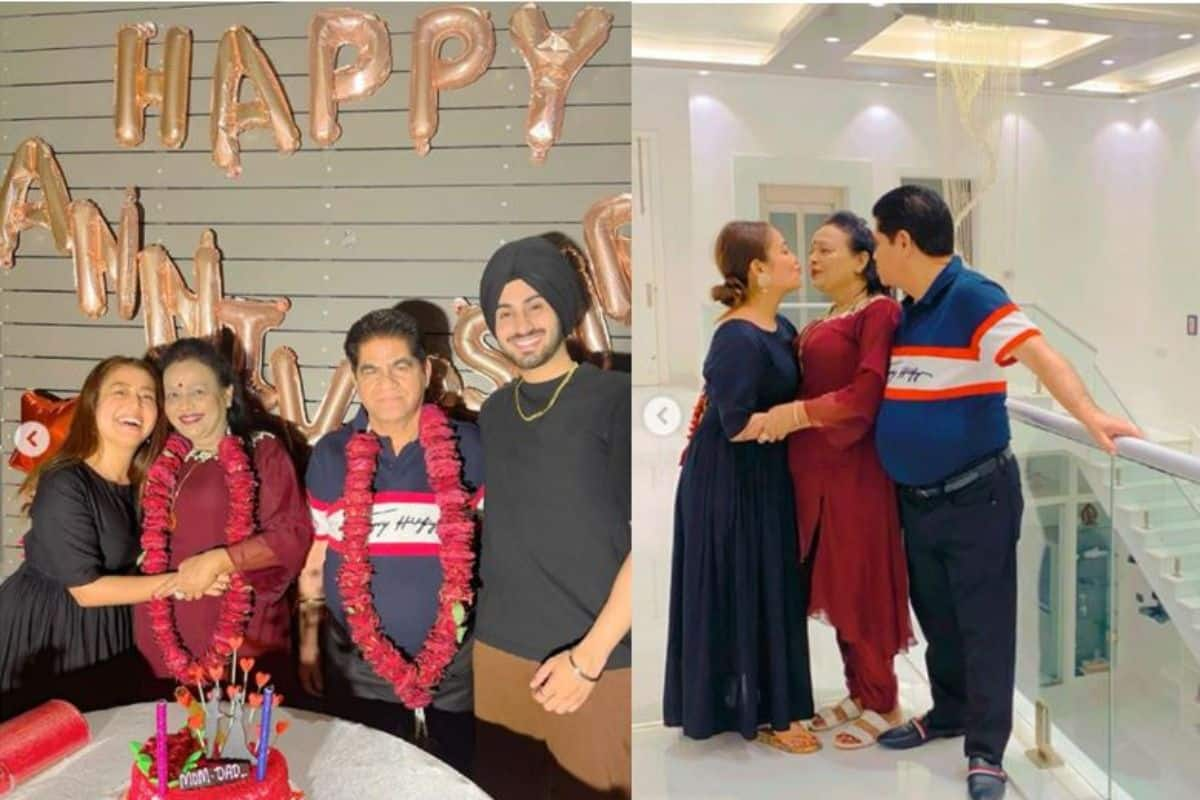 Neha Kakkar-Rohanpreet Singh Celebrate Parents' Anniversary at Singer's Lavish Home in Rishikesh
