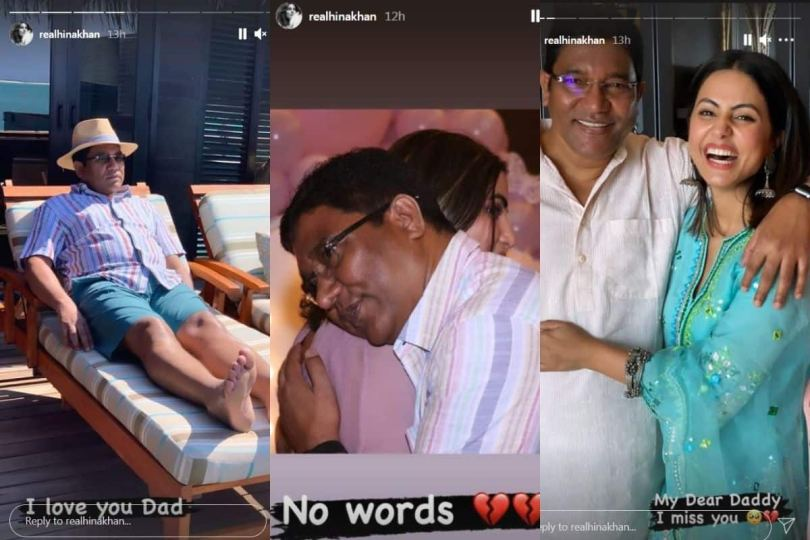 Hina Khan Shares Loving Memories of Late Father Through Old Photos