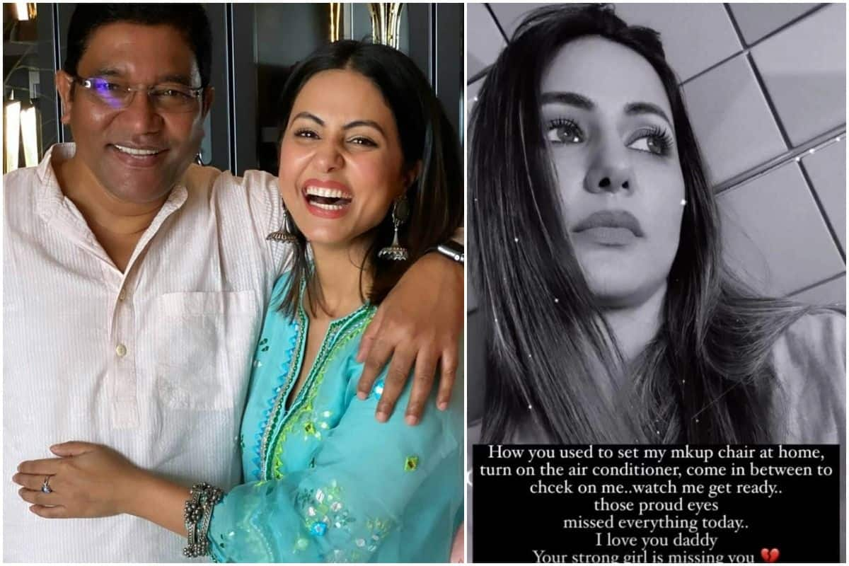 Heartbroken Hina Khan Remembers Late Father