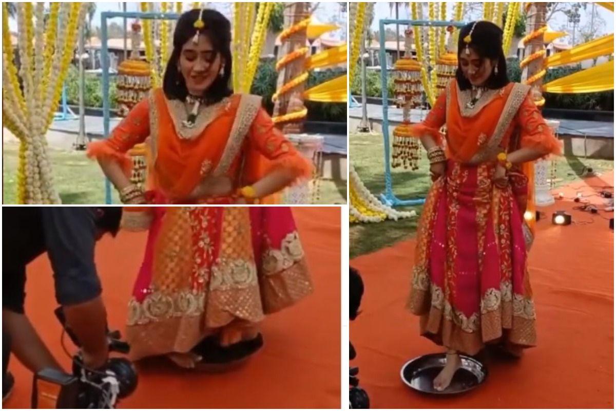 Yeh Rishta Kya Kehlata Hai: Shivangi Joshi Aka Sirat Performs Ghoomar Dance on Plate
