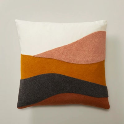 Oui embroidered pillow cover