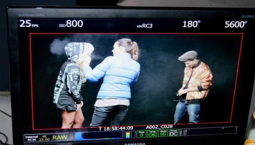 """Poze de la filmările clipului """"Ipotecat"""" - Delia feat. Uddi"""