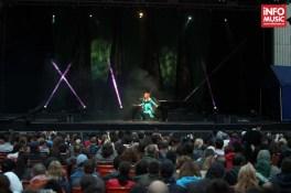 Tori Amos și publicul de la Arenele Romane