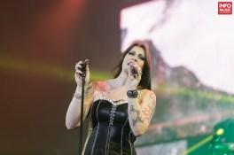 Floor Jansen (Nightwish) în concert la Romexpo pe 10 decembrie 2015