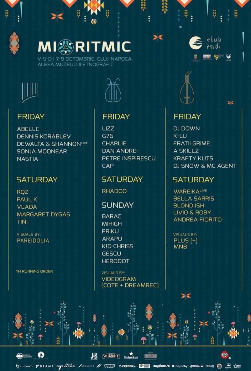 Programul Festivalului Mioritmic