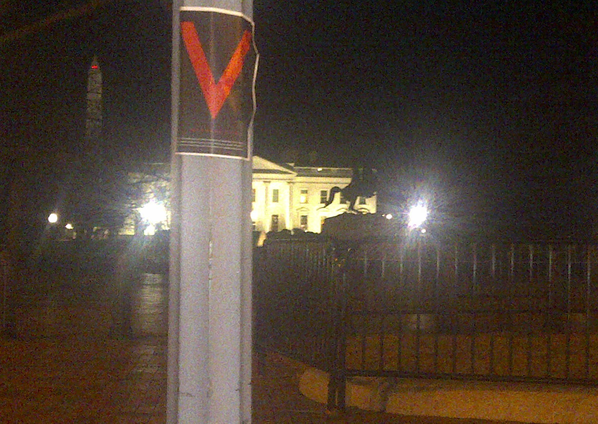 V For Victory Appears at White House, Mexico & Beyond  24v wh2