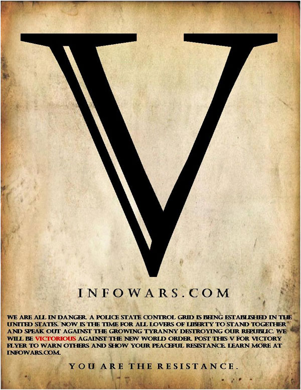 Resist the New World Order V for Victory Campaign Entries