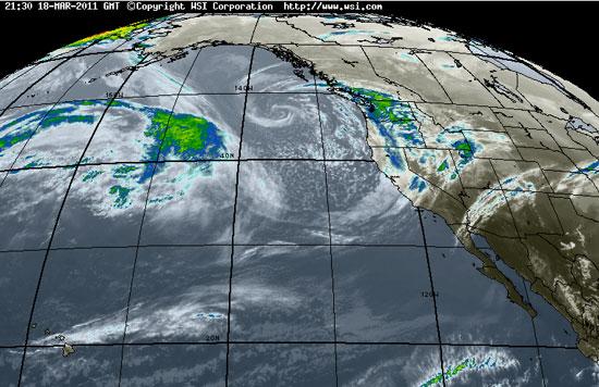 Pacific Satellite, Intellicast, timestamp 21:30 18-MAR-2011
