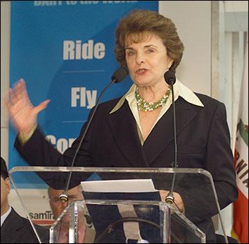 Senadora Dianne Feinstein. Foto: Bay Area Rapid Transit