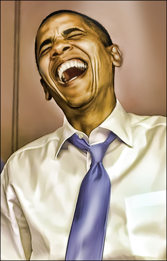 Obama laughs at the loss of our rights. (Photo credit: Edalisse Hirst via Flickr)