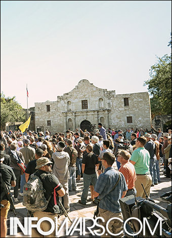 The Alamo chapel.