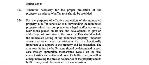 UNESCO's definition of a buffer zone.