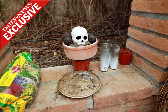 Jared Lee Loughner's hidden occult shrine.