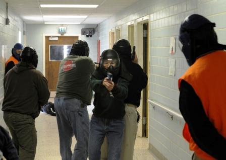Active shooter exercise in Indiana. Photo: Staff Sgt. Brad Staggs, Atterbury-Muscatatuck Public Affairs