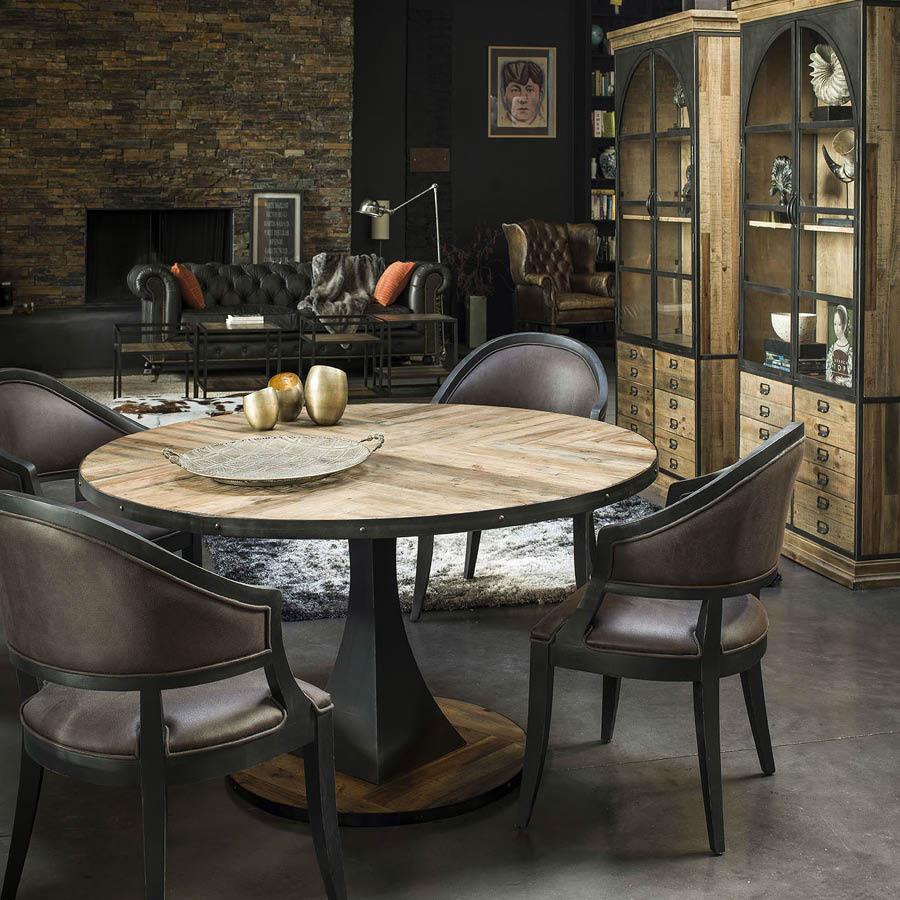 table a manger ronde industrielle d150 cm manufacture
