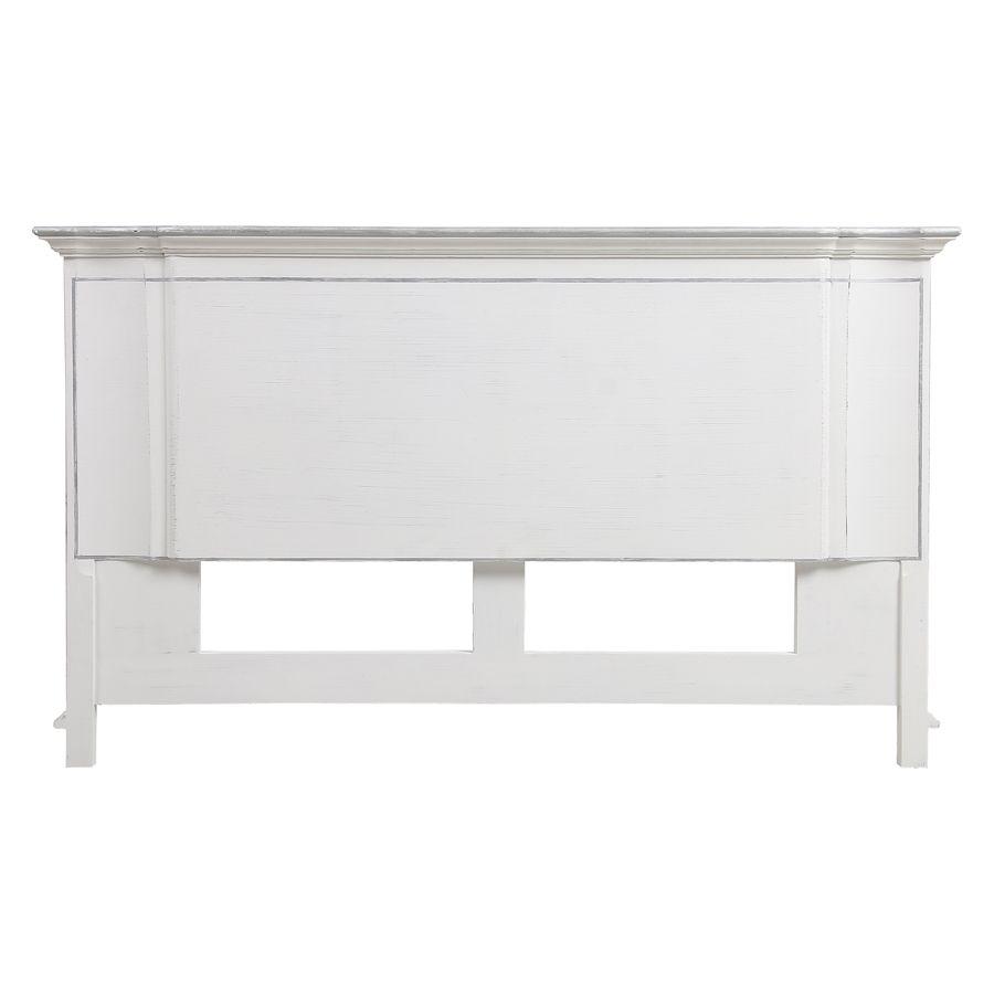 tete de lit 140 160 cm blanc satine monceau
