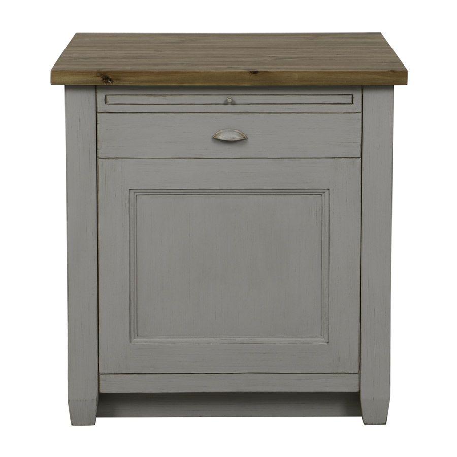 meuble de cuisine pour lave vaisselle en pin gris perle brocante
