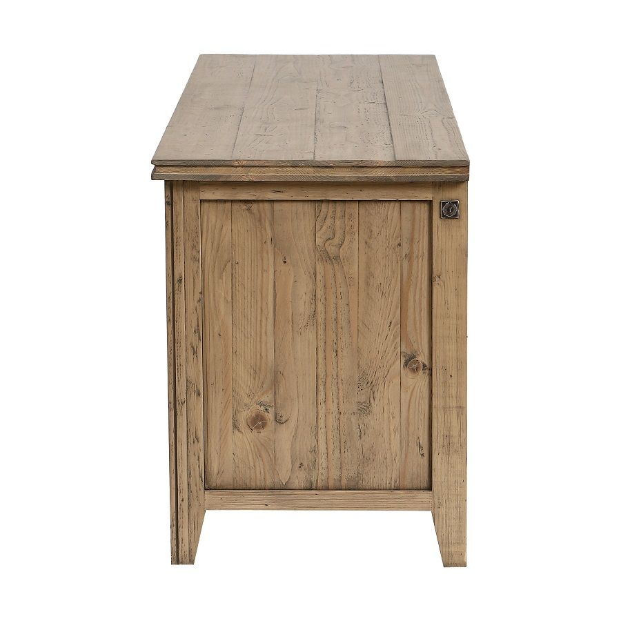 meuble bas tv hifi en bois massif initiale