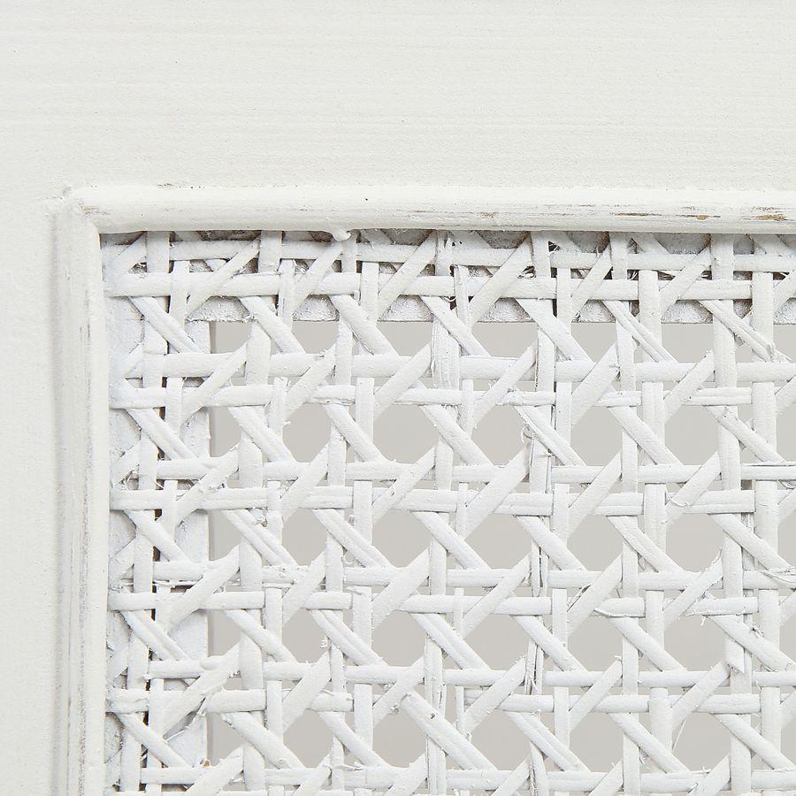 tete de lit 180 blanche en bois gustavien
