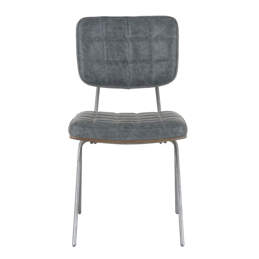 chaise en metal et cuir mineral