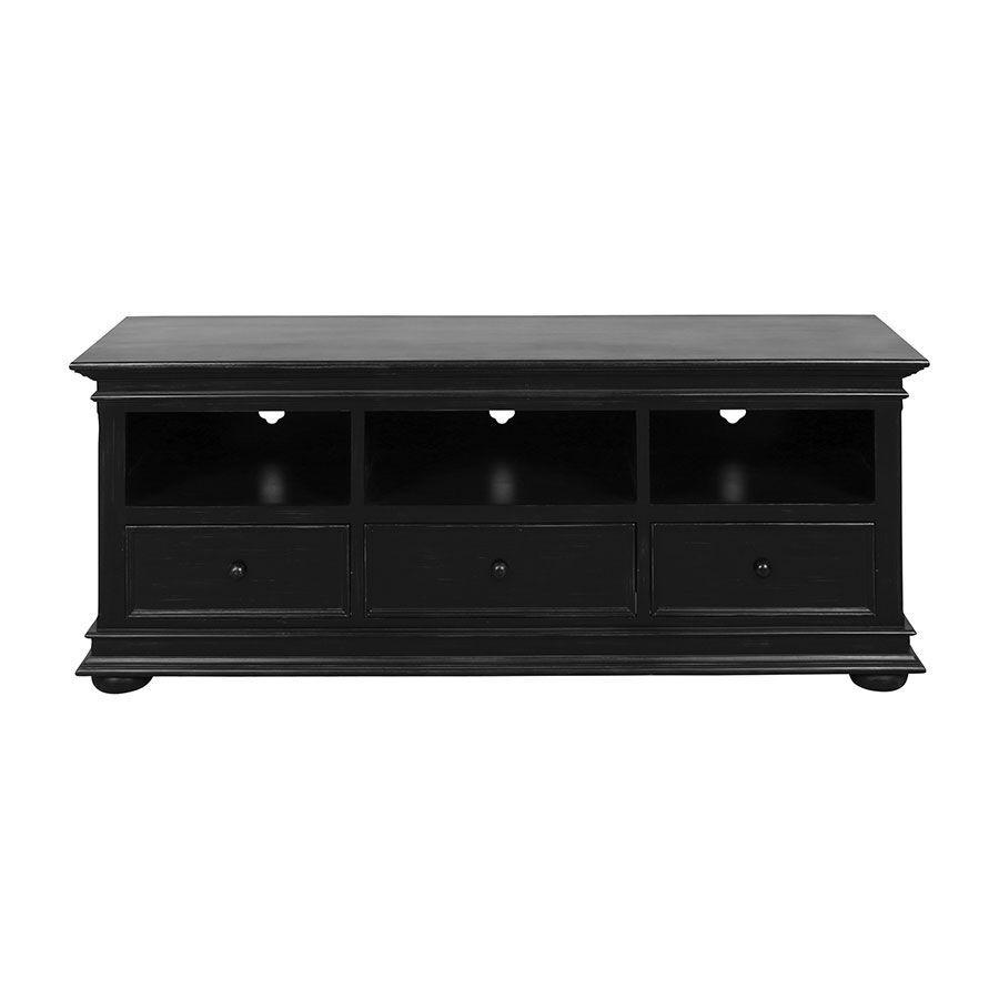meuble tv baroque noir avec rangements harmonie