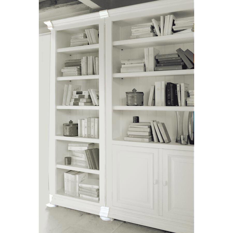 set de finition pour bibliotheques modulables en bois blanc harmonie