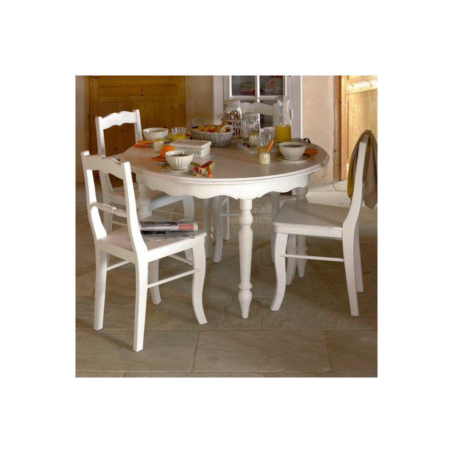 chaise blanche en bois harmonie