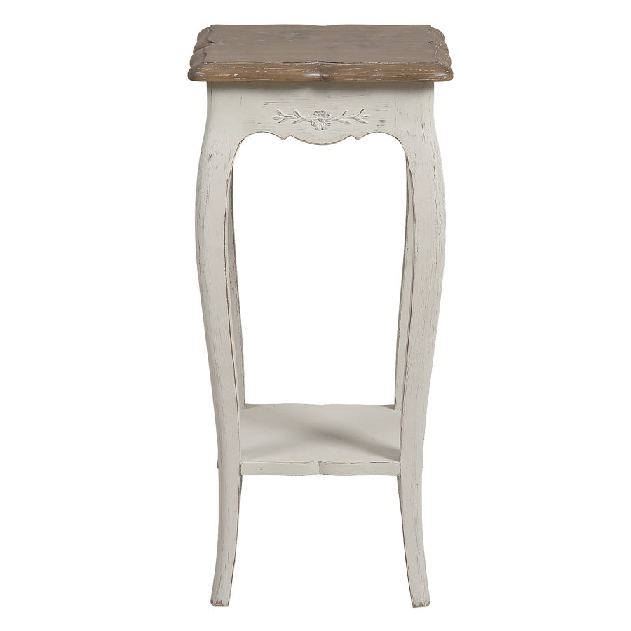console d entree blanche en pin massif chateau