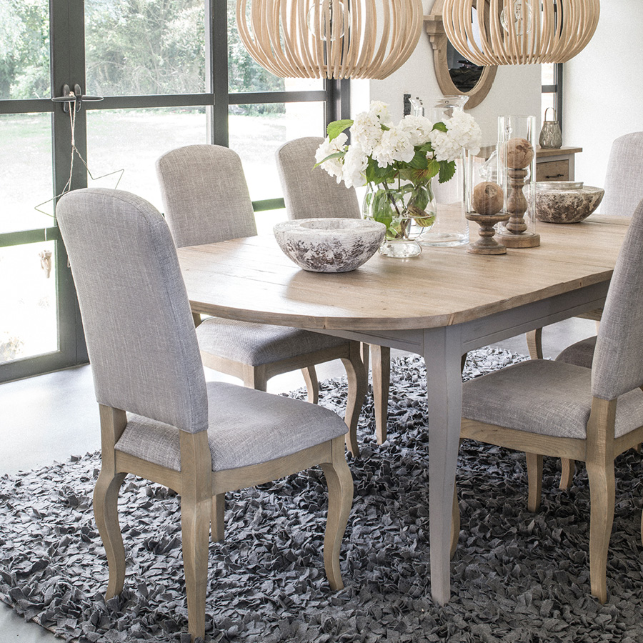table ovale extensible en epicea massif 10 personnes provence