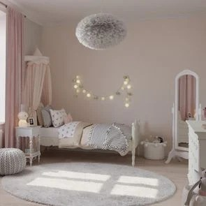 lit enfant 90x190 en bois blanc vieilli romance