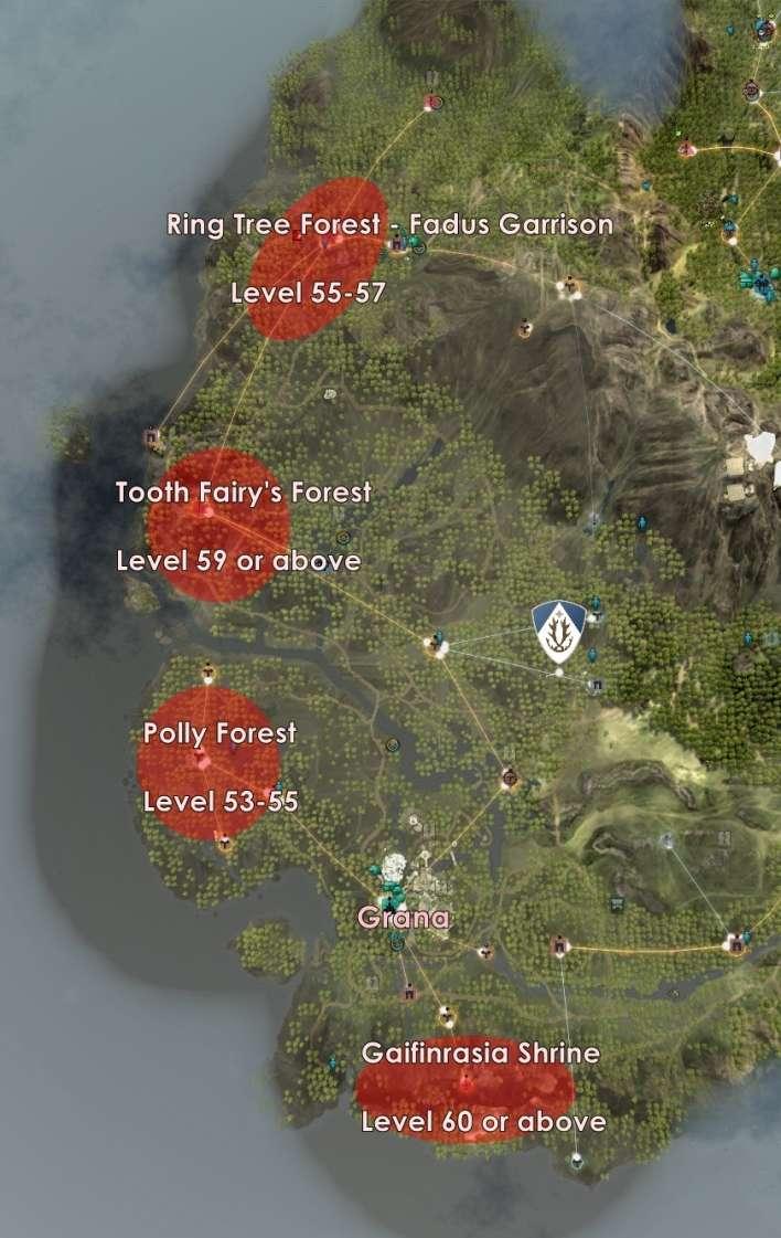 Black Desert Online Map : black, desert, online, Level, Grind, Spots, Kamasylvia, Revealed, Inven, Global