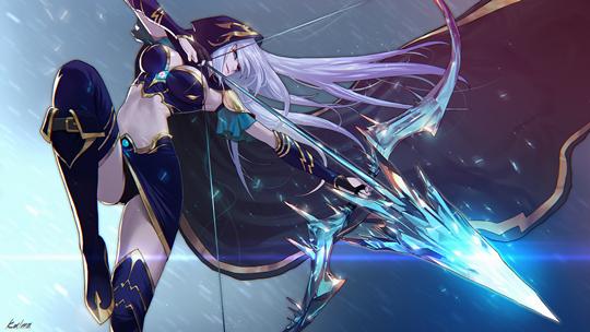 Monster Hunter Girl Wallpaper 1440 League Of Legends Ashe The Frost Archer Inven Global