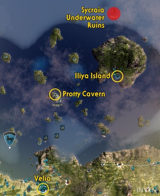 Black Desert Online Map : black, desert, online, Protty, Cavern, Sycraia, Underwater, Ruins,, Grinding, Areas, Added, Tungrad, Ring!, Inven, Global