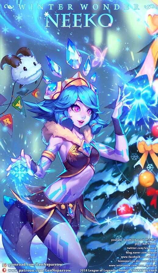 Pubg Best Wallpapers League Of Legends Winter Wonderland Neeko Lol Fanart