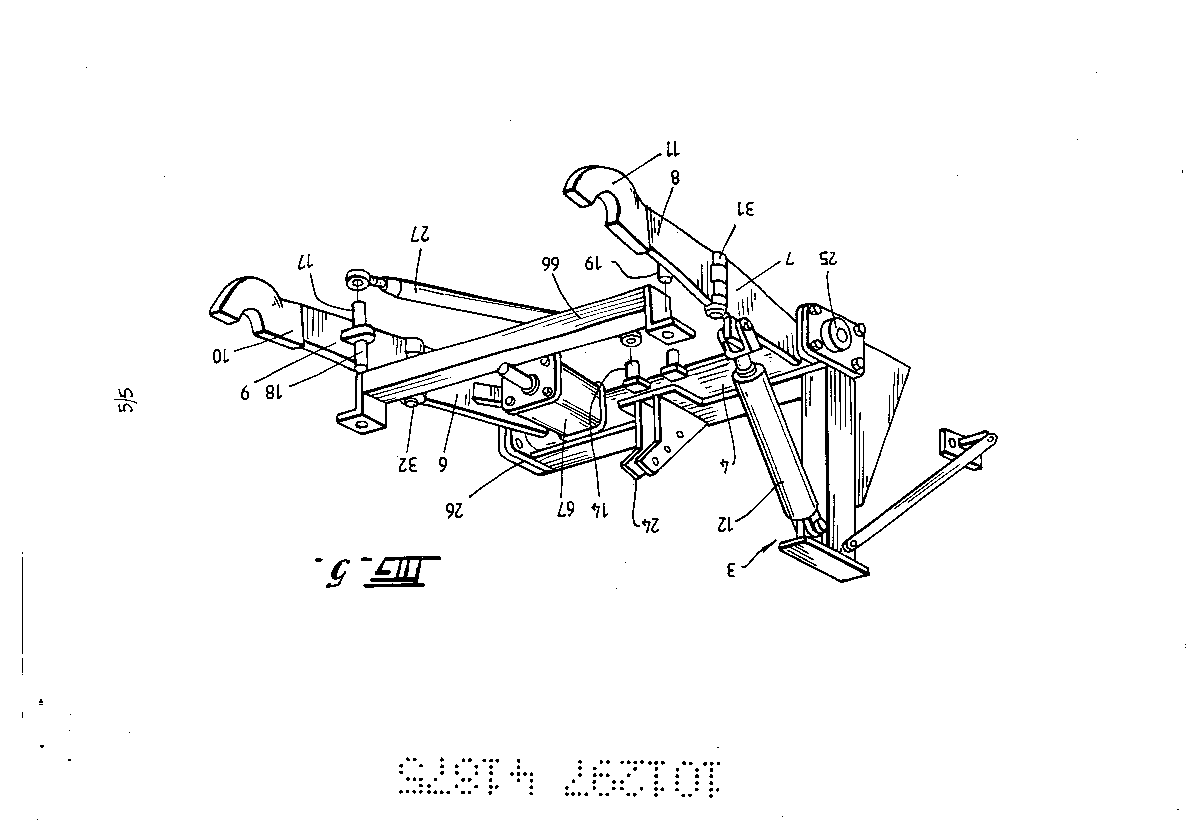 Front mounted three point linkage by Fix, Wolfram Michael