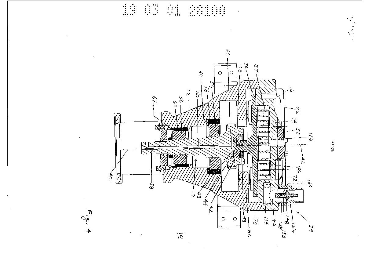 Oiless rotary scroll air compressor antirotation
