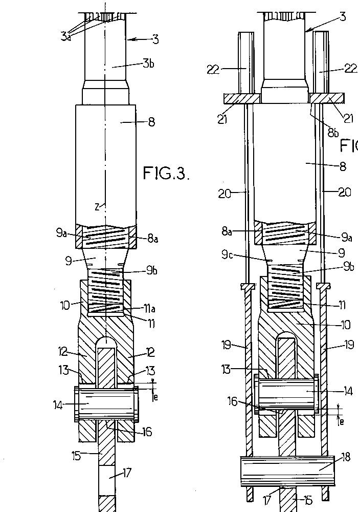Adjustable anchor bearing a civil engineering structure by