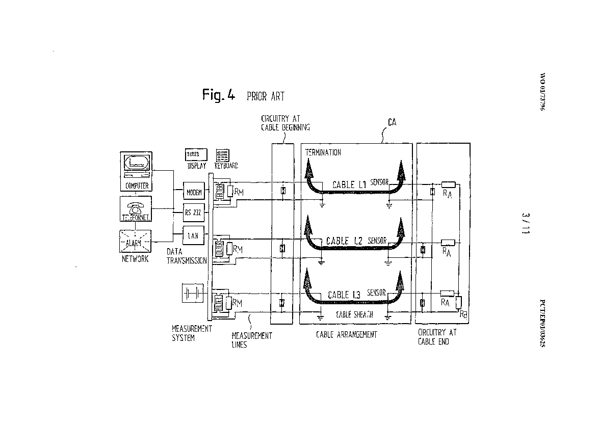 Three-phase high voltage cable arrangement having cross