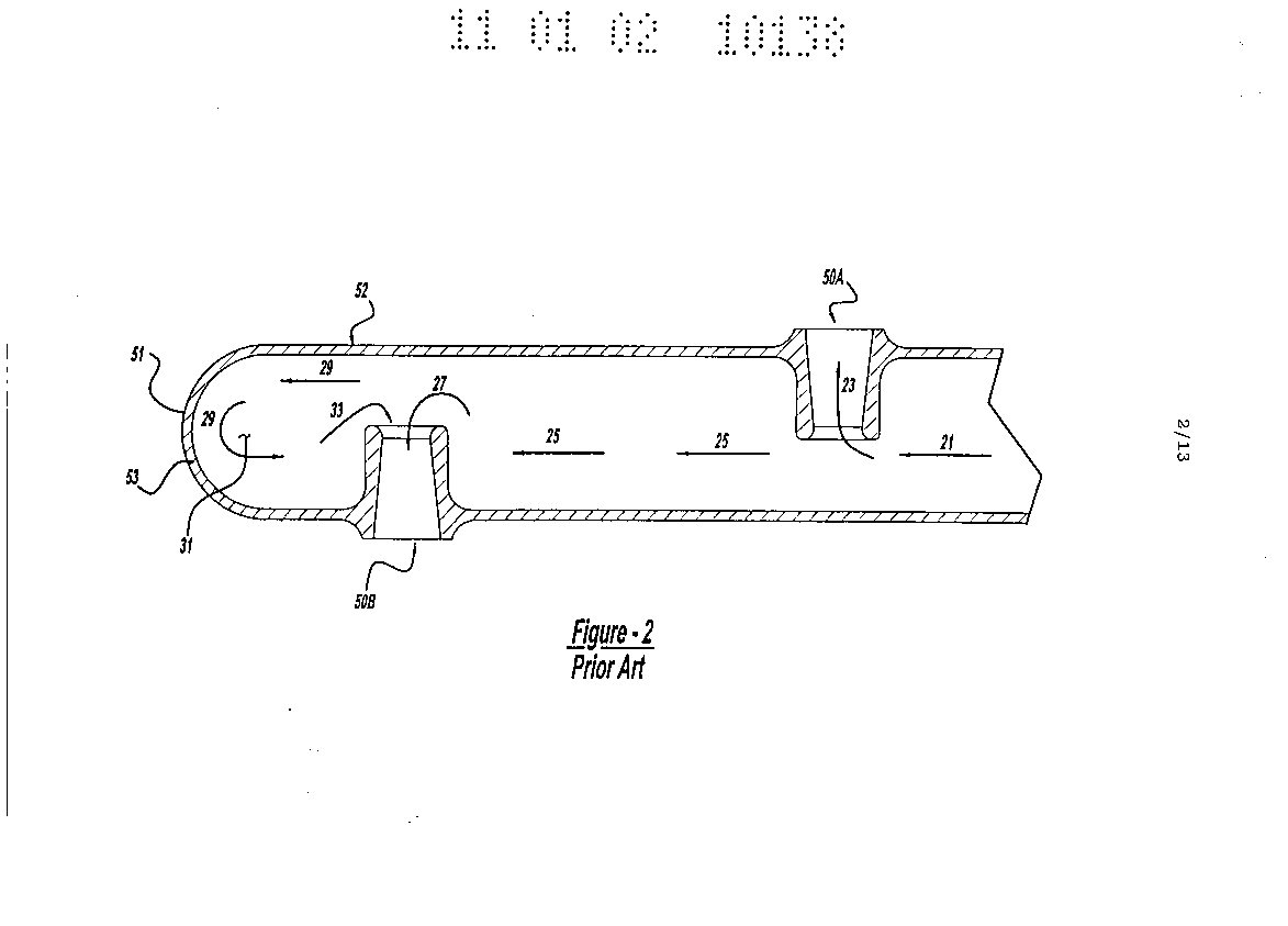 Sootblower nozzle assembly with an improved downstream