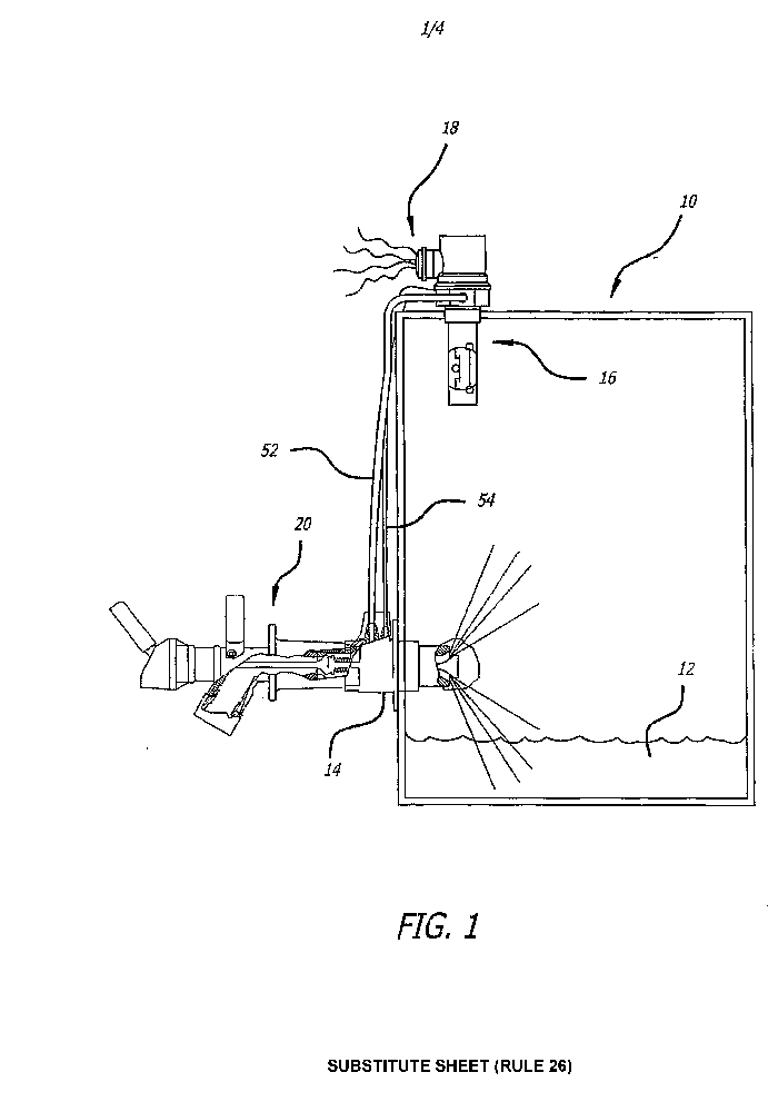Integrated jet fluid level shutoff sensor and fuel tank
