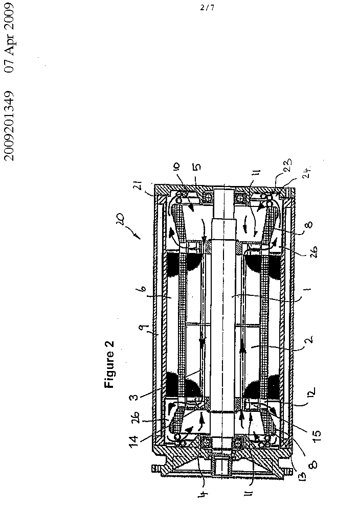 Liquid-cooled electric machine and method for cooling such