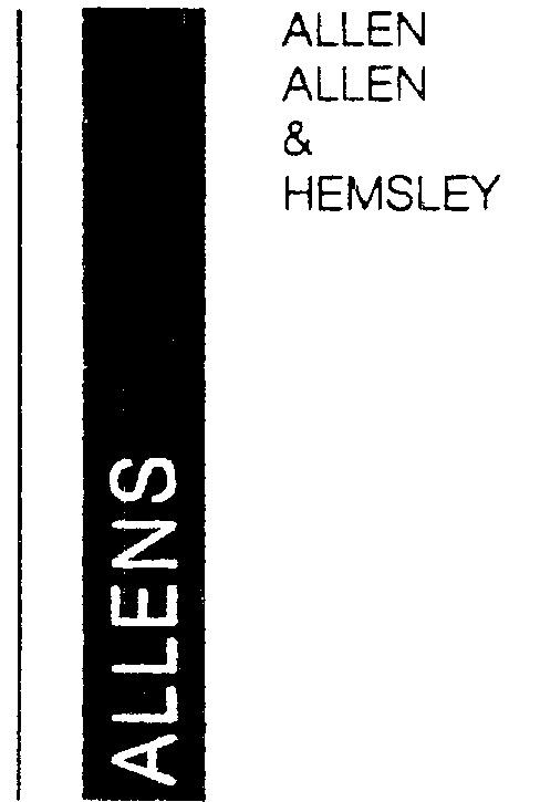 ALLENS ALLEN, ALLEN & HEMSLEY by Michael Rose and the