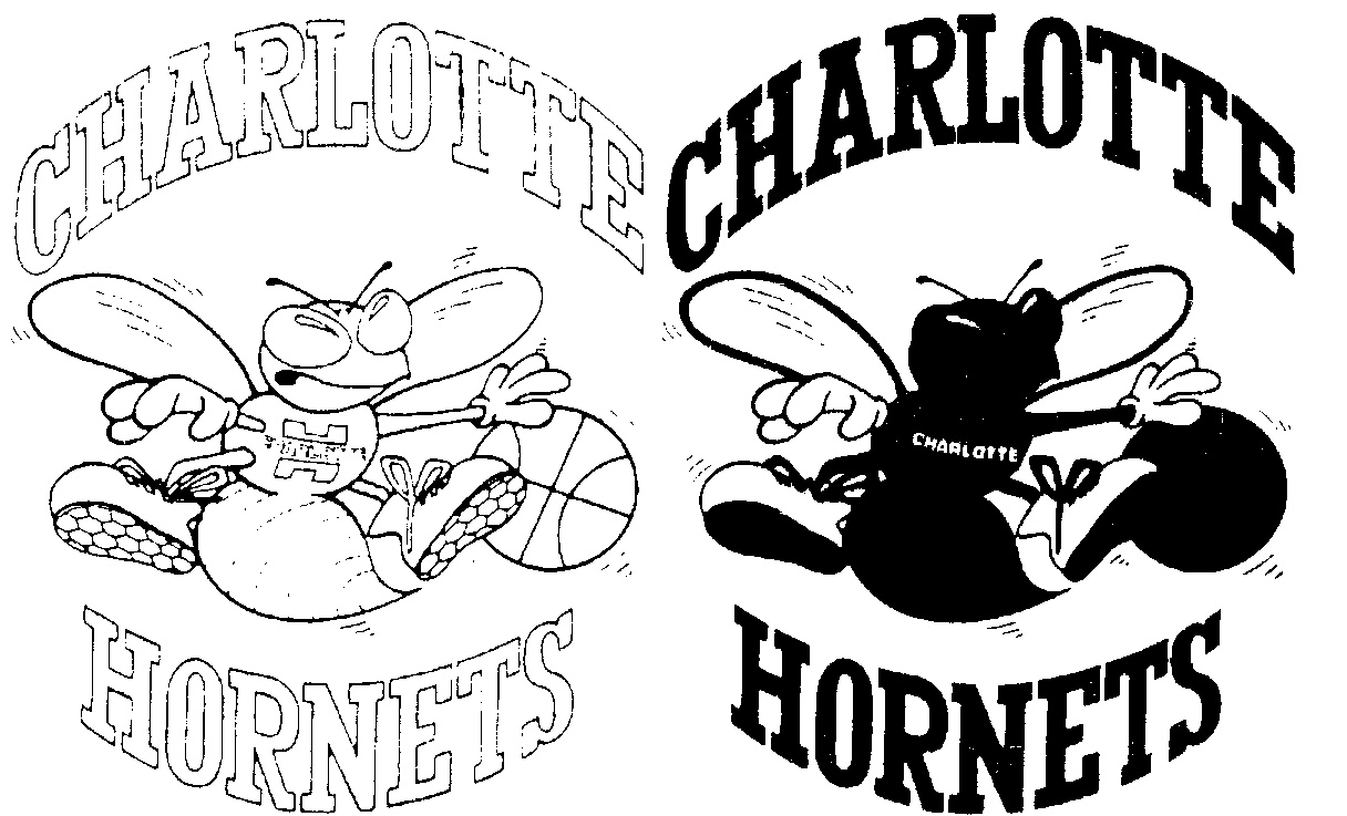 Free coloring pages of hornets logo